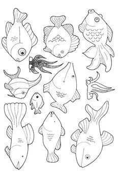 Vissen 10 Free Printable Vissen Thema Dieren Kleurplaten