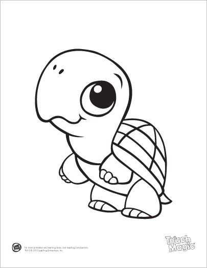 Learning Friends Turtle Coloring Printable Met Afbeeldingen