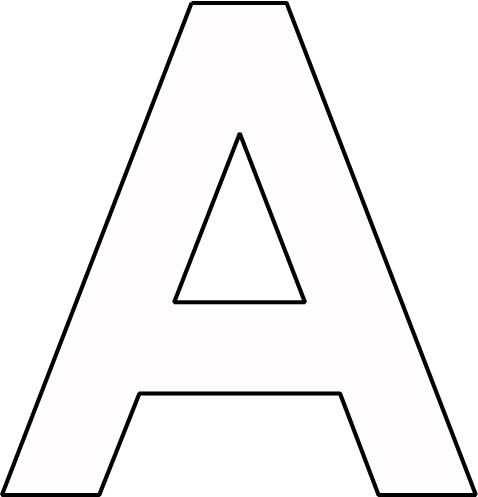 Kleurplaat Letter A Alfabet Letters Letter A Alfabet