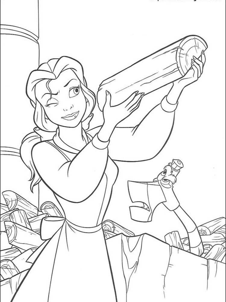 Beauty And The Beast Coloring Pages Disney Below Is A Collection