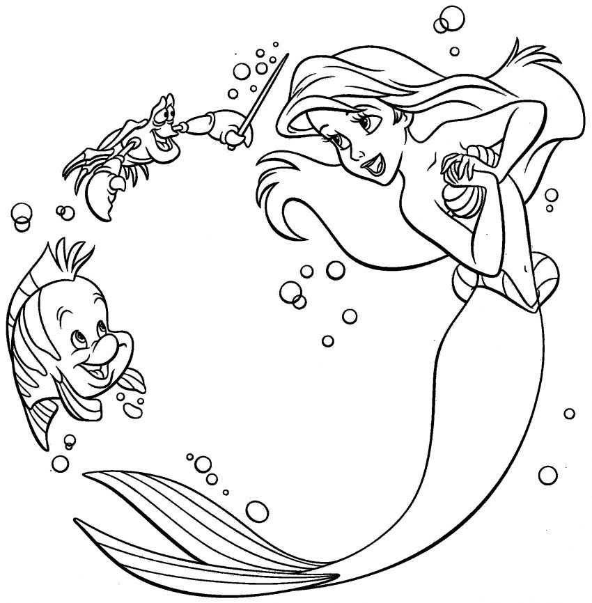 Disney Princess Ariel Printable Coloring Pages Met Afbeeldingen