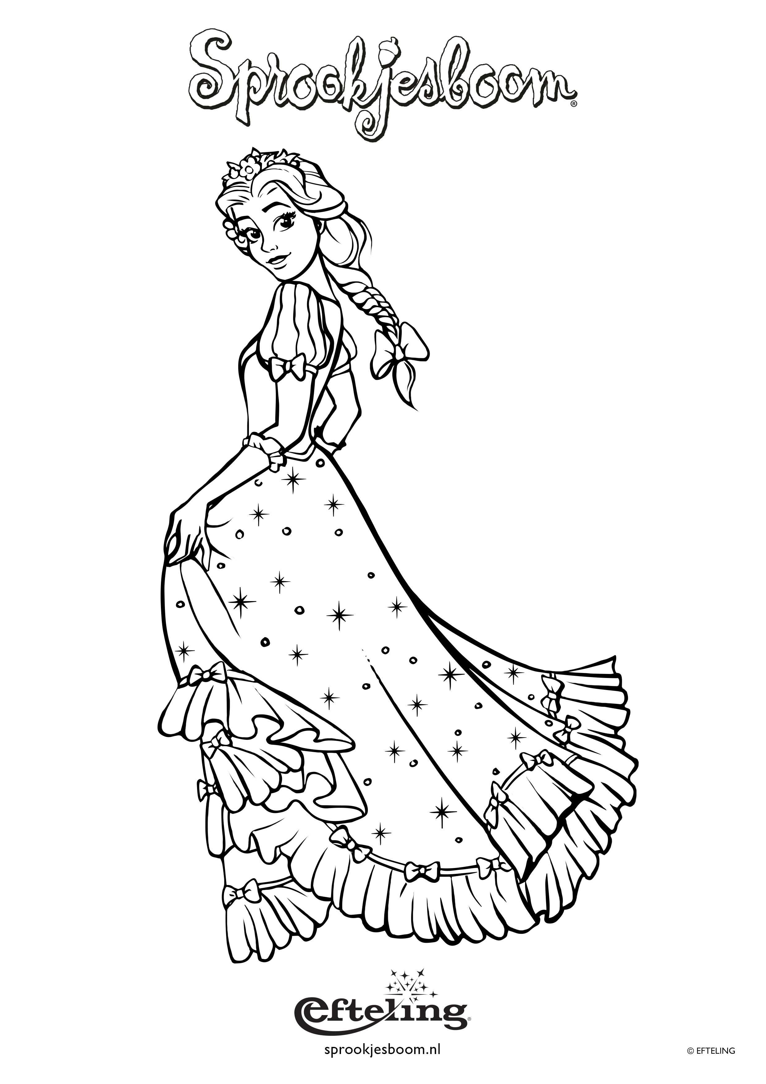 Sprookjesboom Kleurplaat Van Assepoester Met Afbeeldingen