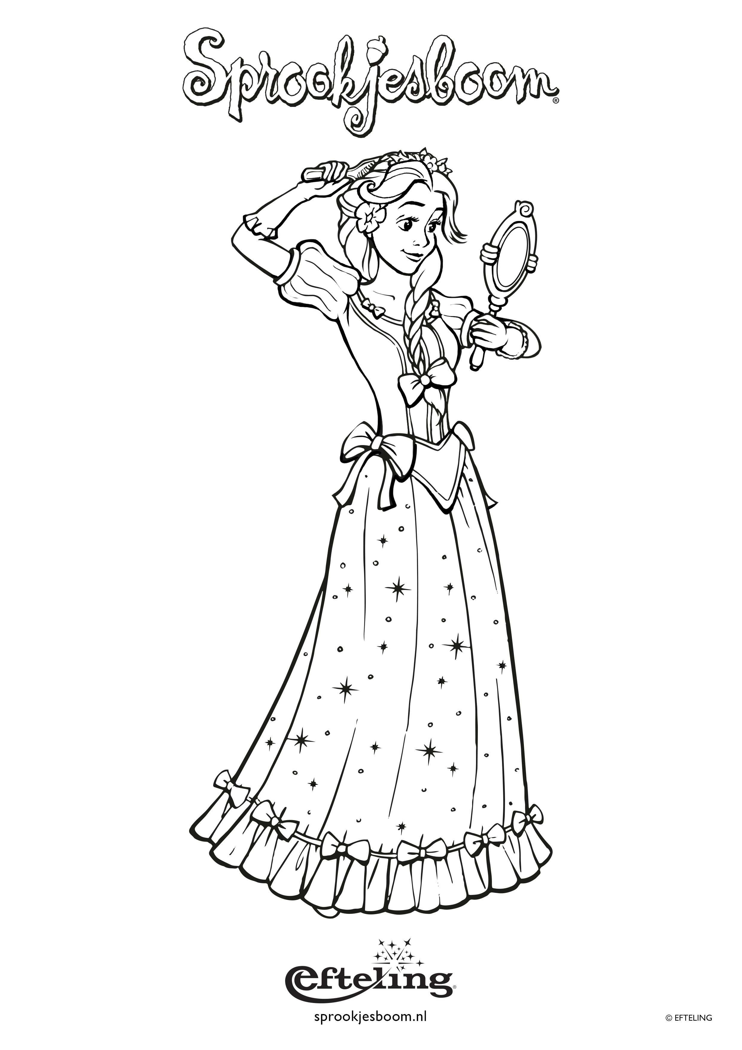 Sprookjesboom Kleurplaat Met Assepoester Met Afbeeldingen
