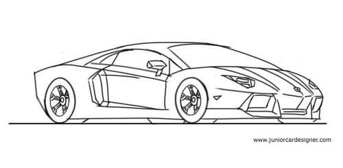 Draw A Lamborghini Aventador Car Design Sketch Car Drawings
