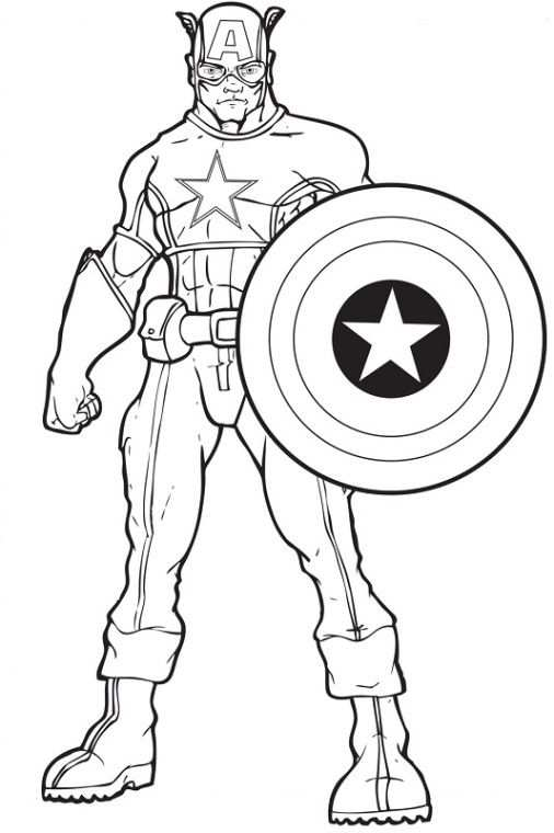 16 Captain America Coloring Pages For 2019
