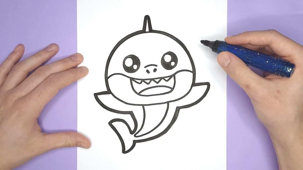 Pinkfong Drawing How To Draw A Cute Baby Shark Met Afbeeldingen