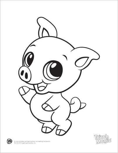 Baby Pig Coloring Printable Dieren Kleurplaten Kleurplaten