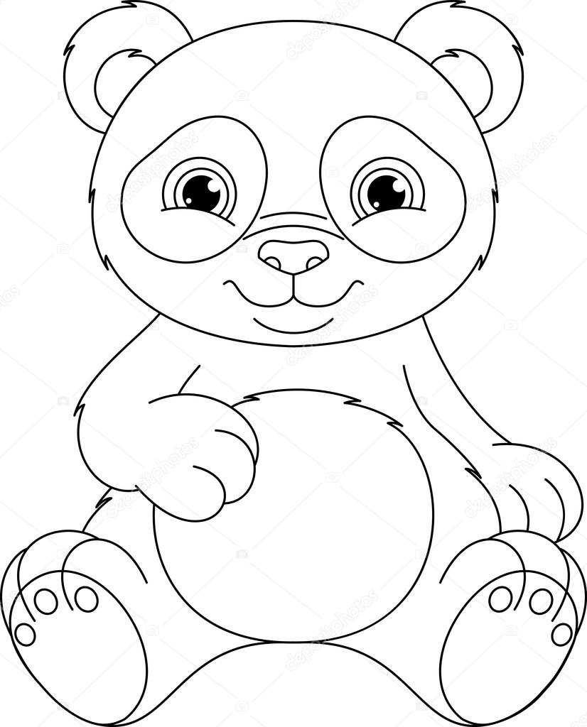 Panda Kleurplaat Printen