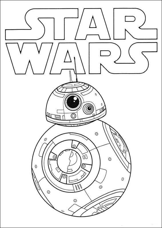 Kleurplaat Star Wars The Force Ontwaakt 3 Dibujos De Star Wars