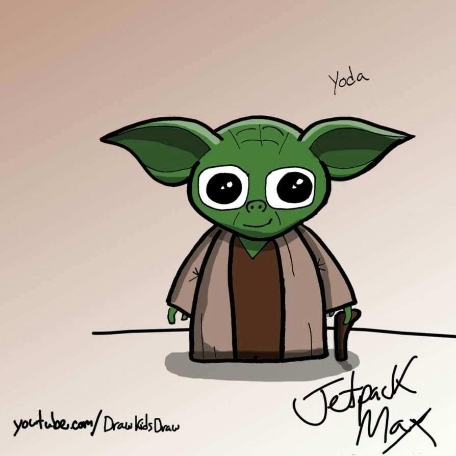 Tekenen Yoda Met Afbeeldingen Tekenen