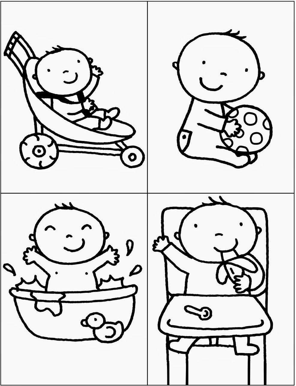 De Baby Kind Onderwijs Knutselen Thema Baby Pasgeboren