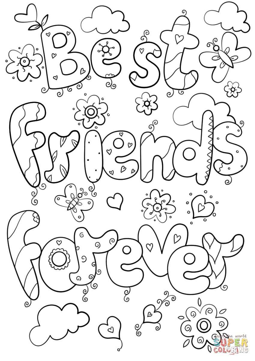 Dit Is Een Tekening Die Laat Zien Wat Best Friend Forever Is Met