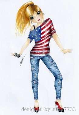 Party In The Usa Dedicado Ha Marta2205 Meiden Tekeningen Mode