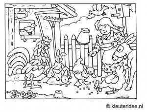 Kleurplaat Kinderboerderij Kleuteridee Nl Met Afbeeldingen