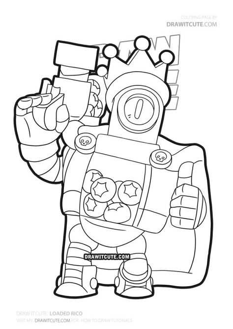 How To Draw Loaded Rico In 2020 Star Coloring Pages Cute