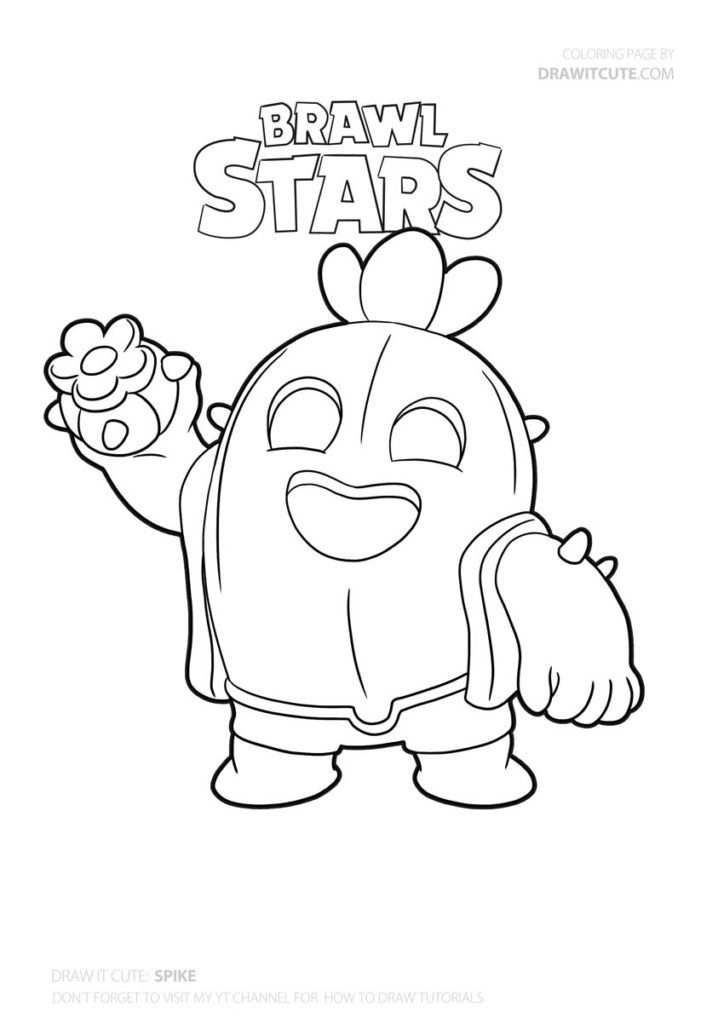 How To Draw Spike Super Easy In 2020 Star Coloring Pages