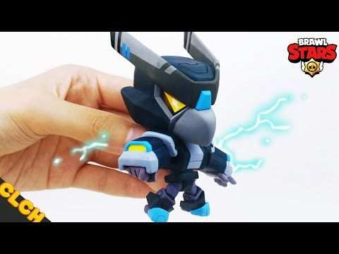 Making Brawl Stars Night Mecha Crow Clay Tutorial Clay Art