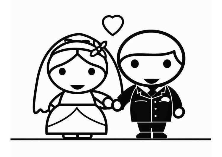 Kleurplaat Huwelijk Met Afbeeldingen Kleurplaten Huwelijk