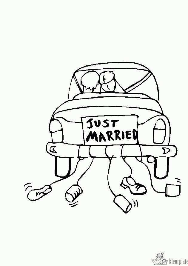 Kleurplaat Bruiloft Kleurplaten Bruiloftsideeen Trouwen