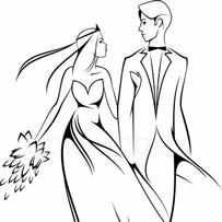 Kleurplaat Bruiloft Gevouwen Boekkunst Kleurplaten En