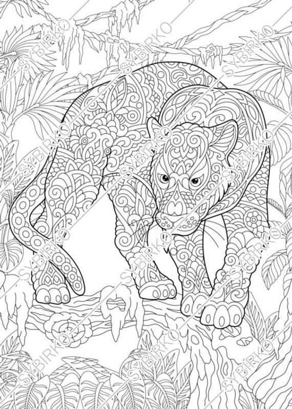 Coloring Pages Black Panther Puma Animal Coloring Book For