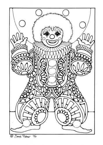 Coloring Page Clown Kleurplaten Mandala Kleurplaten Adult