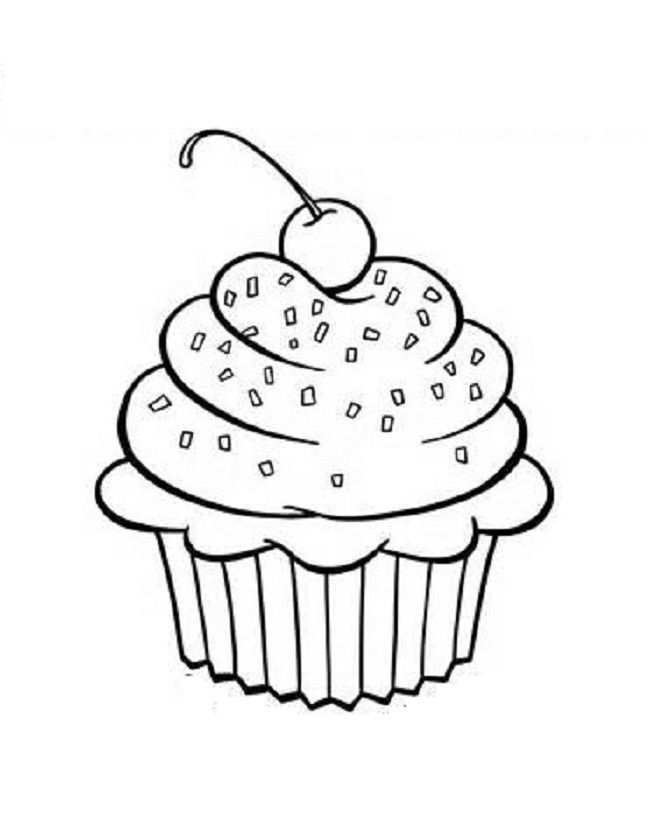Free Printable Cupcake Coloring Pages For Kids With Images