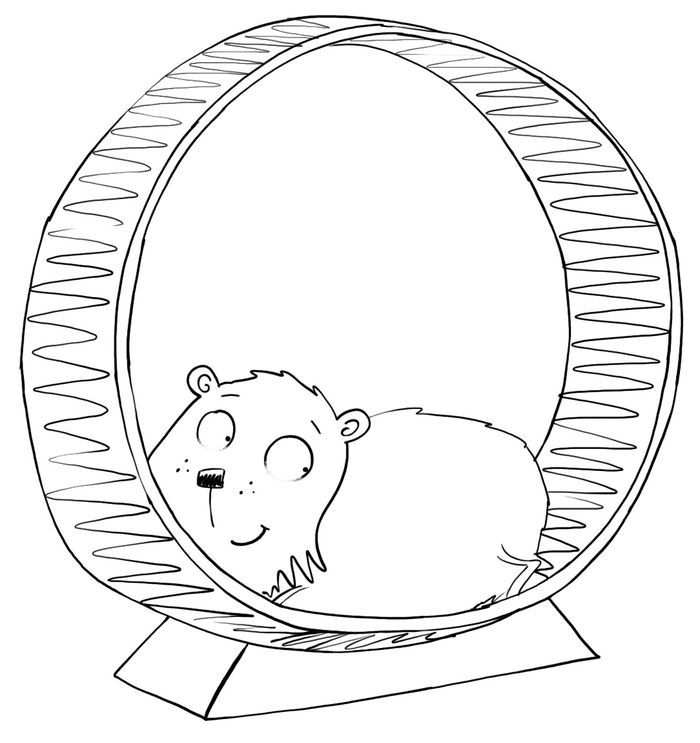 Collection Of Hamster Coloring Pages Animal Coloring Pages