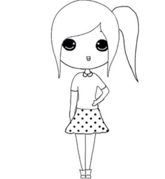 Chibi Templates Met Afbeeldingen Meisjes Tekenen