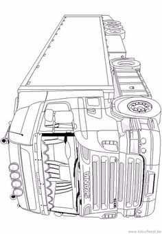 Pin Van Jeffrey Mercx Op Scania Kleurplaten Vrachtwagen Tattoo