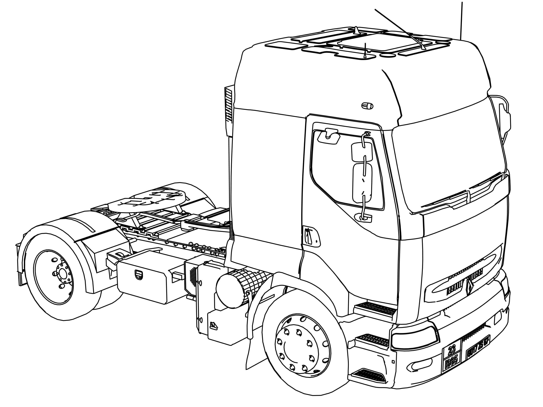 daf trucks vrachtwagen kleurplaat