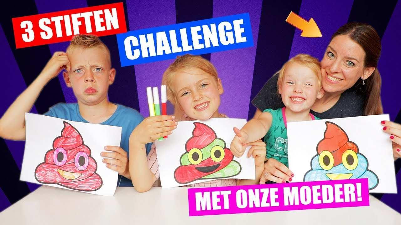 3 Stiften Challenge Met Onze Moeder 3 Marker Challenge