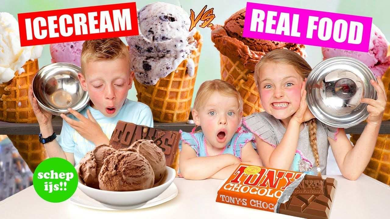 Schep Ijs Icecream Vs Real Food Challenge A Dezoetezusjesa