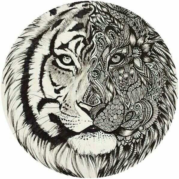 Adult Tiger Coloring Page Met Afbeeldingen Dieren Kleurplaten