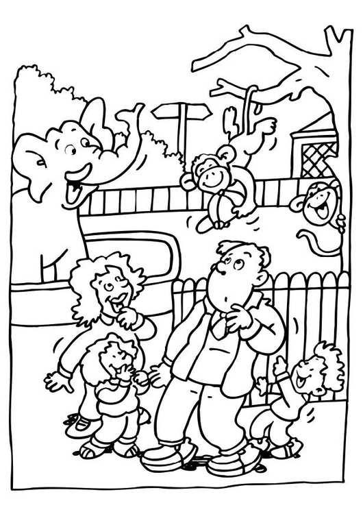 Kleurplaat Bezoek Aan De Zoo Gratis Kleurplaten Om Te Printen