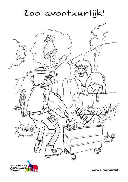 Kleurplaat Leeuw In De Zoo Gratis Kleurplaten Om Te Printen