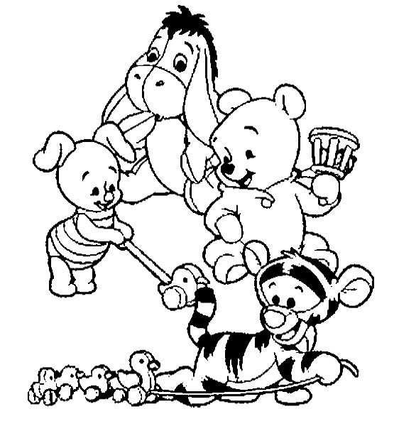 Baby Winnie The Pooh And Friends Coloring Pages Kleurplaten