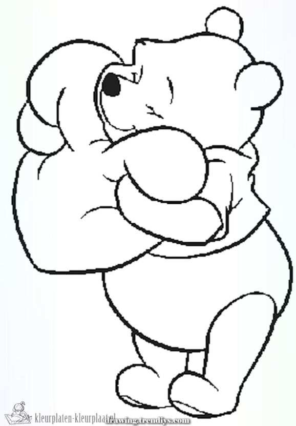 Kleurplaten Winnie The Pooh In 2020 With Images Valentine Cartoon