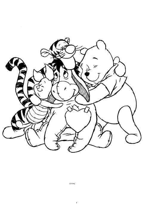 Kleurplaat Winnie De Pooh Vriendjes Kleurplaten Disney