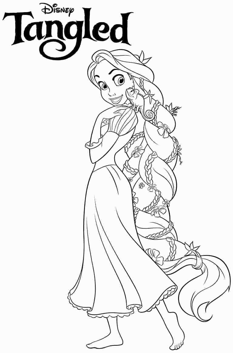 Free Disney Princess Coloring Pages In 2020 Tangled Coloring