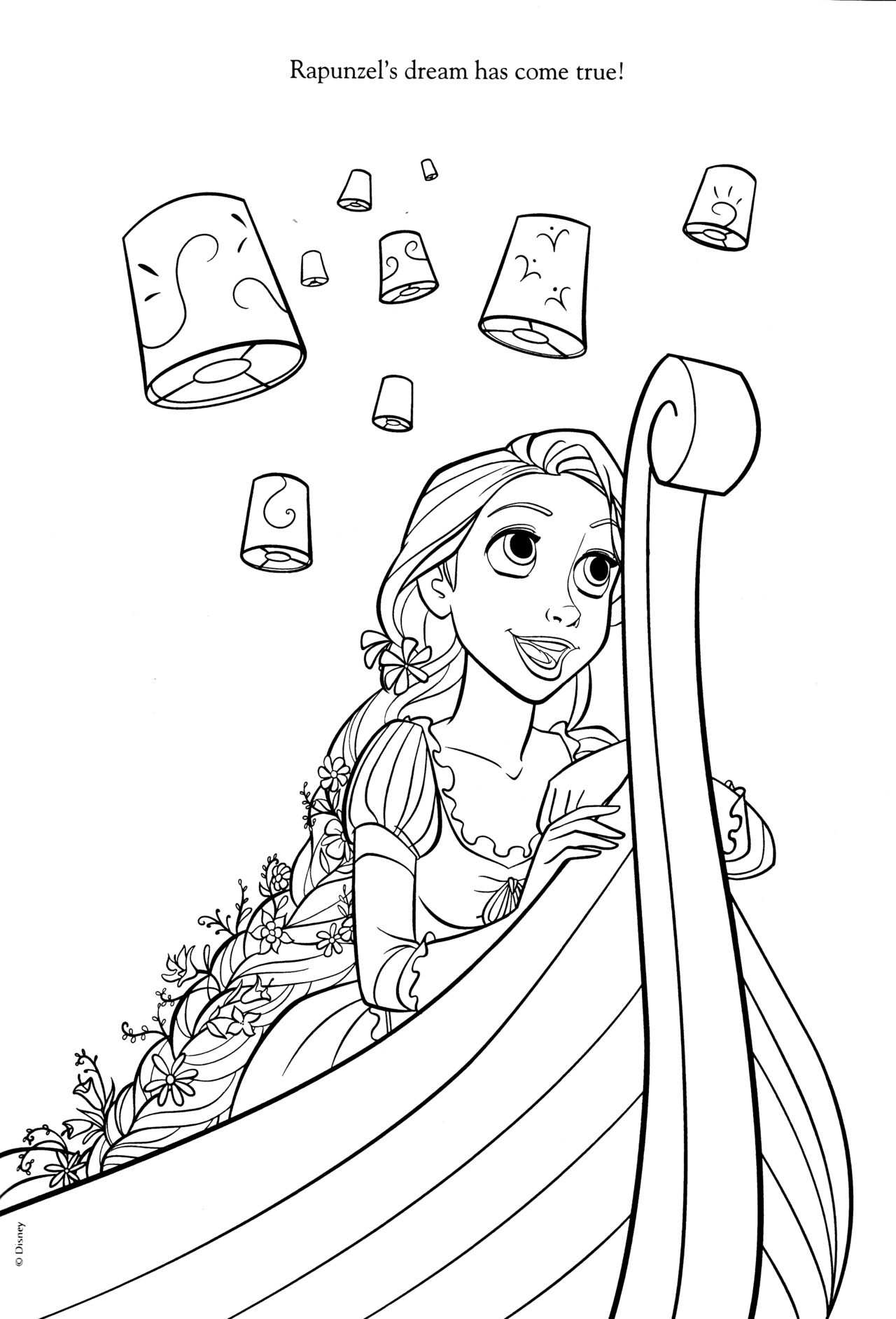 Tangled Coloring Book Tangled Coloring Pages Rapunzel