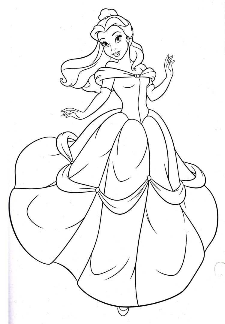 Disney Princess Belle Coloring Pages Met Afbeeldingen Disney