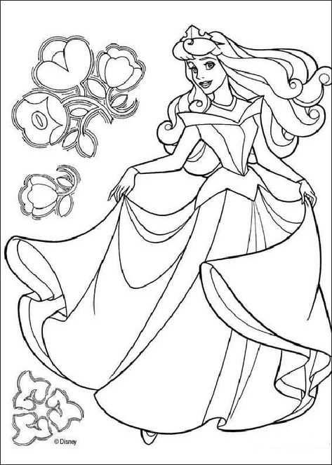 Doornroosje Kleurplaat Prinses Kleurplaatjes Kleurplaten