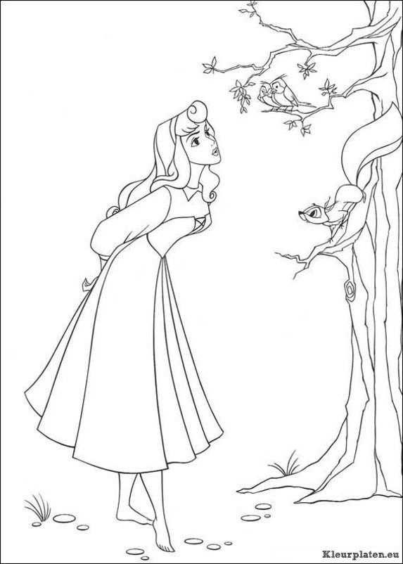 Doornroosje Kleurplaten Kleurplaten Disney Kleurplaten Prinses