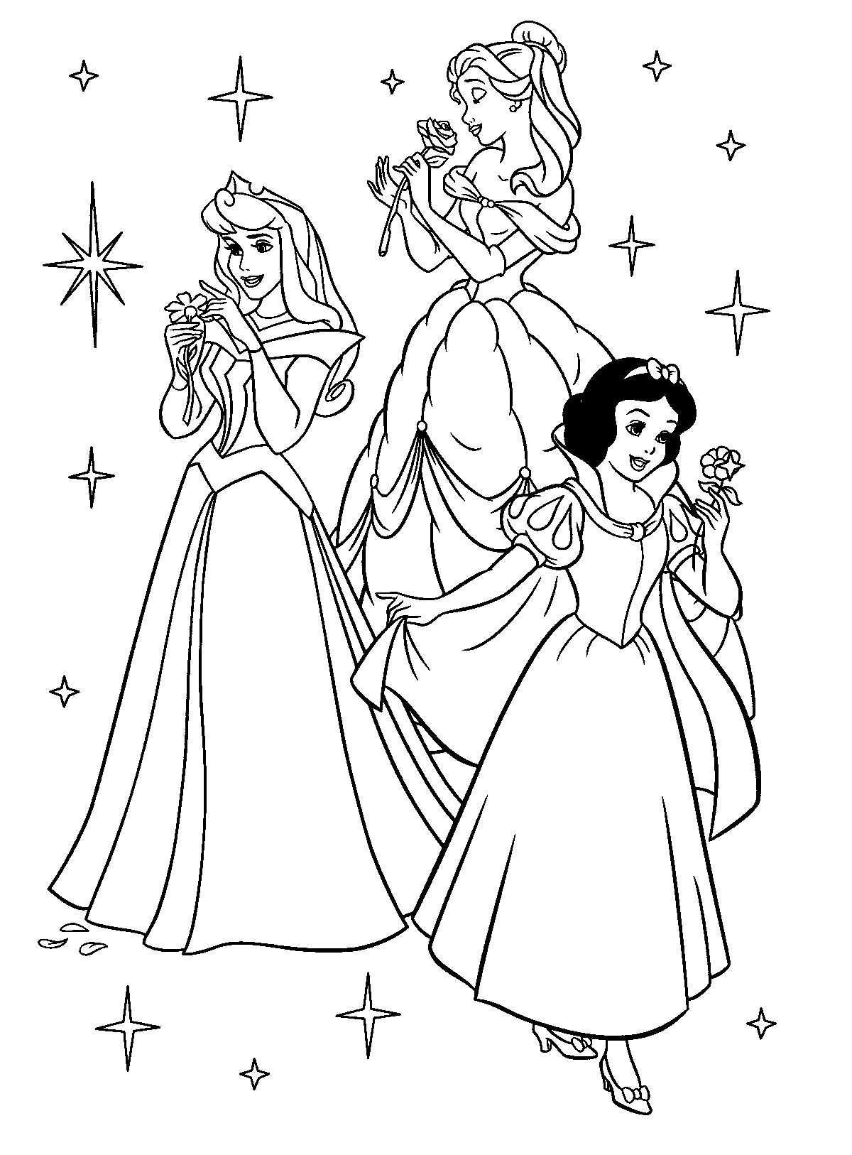 Princesses Met Afbeeldingen Kleurplaten Disney Kleurplaten