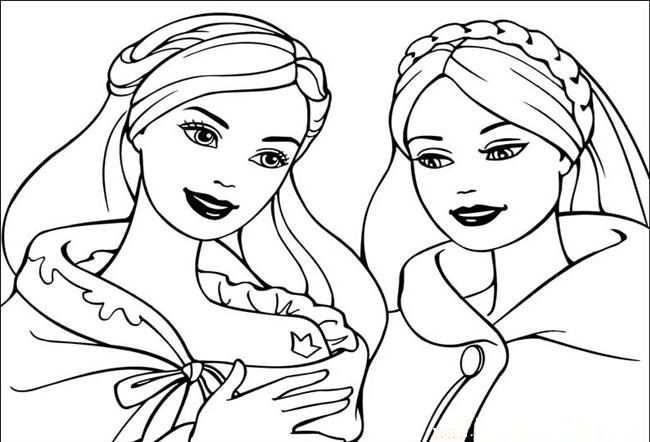 9 Beautiful Barbie Coloring Pages For Girls Met Afbeeldingen