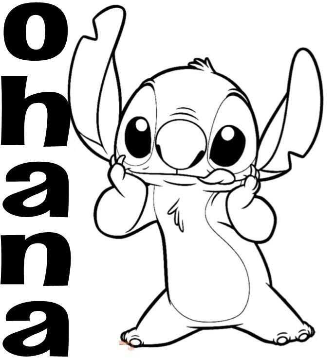 Disney Stitch Kleurplaat Schattig