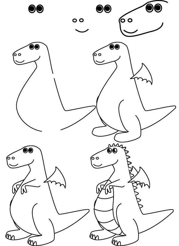 Teken Een Draak Avec Images Dessin De Dragon Dessin D Animal
