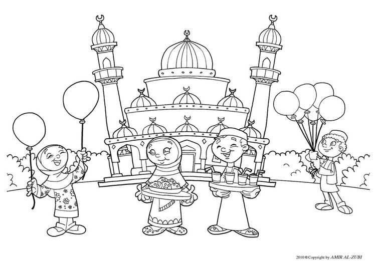 Coloring Page Eid Ul Fitr Img 22027 With Images Ramadan