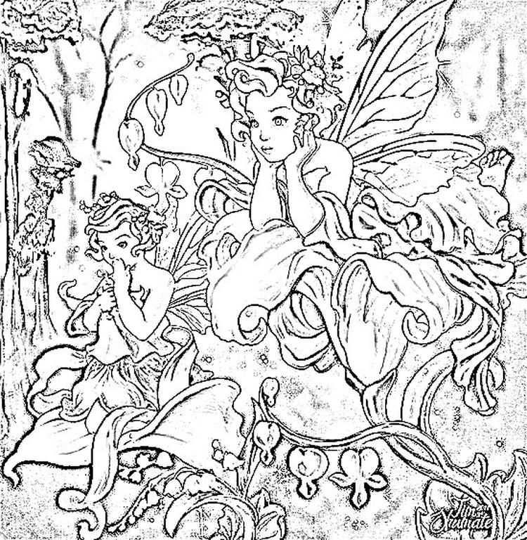 Een Fairy Kleurplaat Met Afbeeldingen Kleurplaten Fee